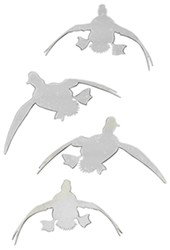 Big Rack Duck Set Emblems - Chrome plated ABS plastic - Qty 4