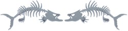 Striker Primal Fish Emblem Decals - Raised - Chrome Plated ABS Plastic - Qty 2