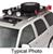 surco products roof basket cargo safari rack 5.0 rooftop for factory rails - 84 inch long x 50 wide