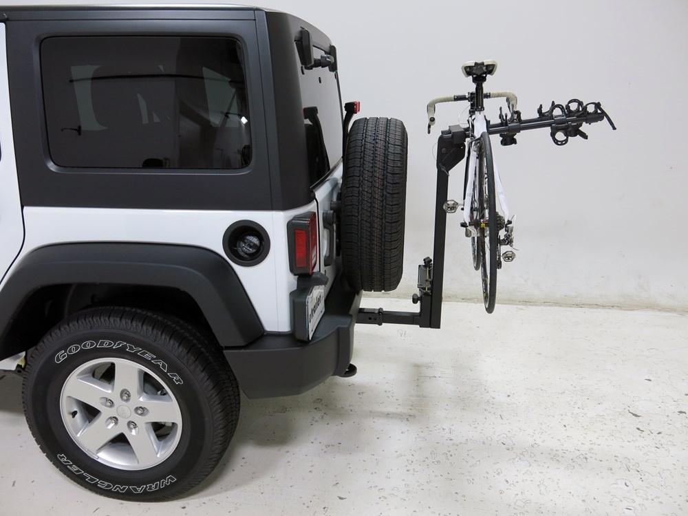 jeep wrangler sportrack ridge swing 4 bike rack 2. Black Bedroom Furniture Sets. Home Design Ideas