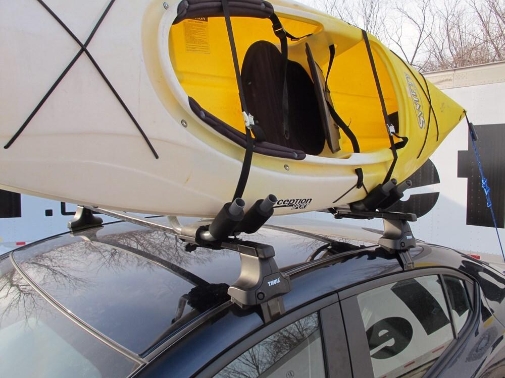 Hyundai Santa Fe Sportrack Kayak Carrier With Tie Downs