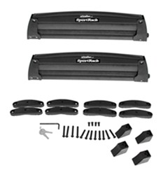 SportRack Ski and Snowboard Carrier - Roof Mount - Locking - 4 Skis or 2 Snowboards