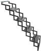 "Brophy Camper Scissor Steps - 4 Steps - Steel - Diamond Tread - 18"" Wide - 300 lbs"