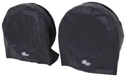 "SnapRing TireSavers Tire Covers - 36"" to 39"" Diameter - Black Vinyl - Qty 2"