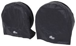 "SnapRing TireSavers Tire Covers - 40"" to 42"" Diameter - Black Vinyl - Qty 2"