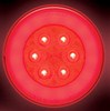 GloLight LED Trailer Tail Light - Stop, Tail, Turn - Submersible - Round - Red - Weathertight Plug
