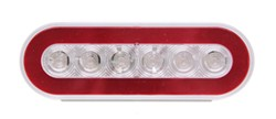 GloLight LED Trailer Tail Light - Stop, Tail, Turn - Submersible - 22 Diodes - Oval - Clear Lens