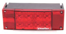 LED Trailer Tail Light - 7 Function - Submersible - 18 Diodes - Rectangle - Red Lens - Driver