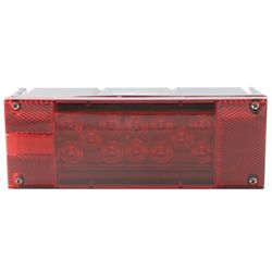 "Over 80"", Rectangular Submersible LED Trailer Tail and License Light, 22 Diode, Left Hand"