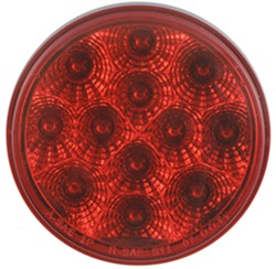 "Miro-Flex LED Trailer Stop/Turn/Tail Light - 12 Diode, 24 Volts - 4"" Round - Red"