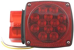 "Over 80"" Wide, Square LED Trailer Tail Light with License Plate Light, 8-Function, 23 Diode, LH"