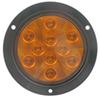 "Sealed, 4"" Round LED Trailer Turn Signal and Parking Light, Flange Mount, 10 Super Diode-Amber"