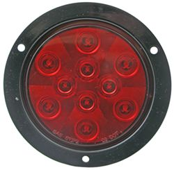 "Sealed, 4"" Round LED Trailer Stop, Turn and Tail Light, Flange Mount, 3-Function, 10 SuperDiode"
