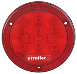 "LED Trailer Stop/Turn/Tail Light - 10 Diode - Sealed - Reflex Flange - 4"" Round - Red"