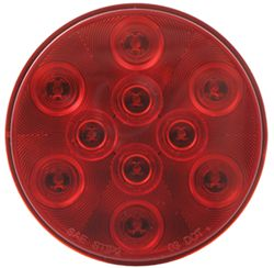 "Sealed, 4"" Round LED Trailer Stop, Turn and Tail Light, Flush Mount, 3-Function, 10 Super Diode"