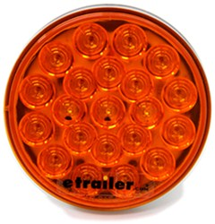 "Sealed, 4"" Round, LED Park and Rear Turn Signal Light, 21 Diode - Amber"