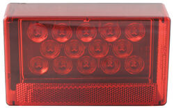 LED Trailer Tail Light - 6 Function - Submersible - 18 Diodes - Rectangle - Red Lens - Passenger