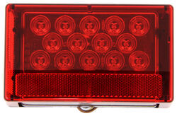 LED Trailer Tail Light - 7 Function - Submersible - 23 Diodes - Rectangle - Red Lens - Driver