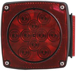 Trailer Tail Light - 6-Function - LED - Submersible - 11 Diodes - Red Lens - Passenger