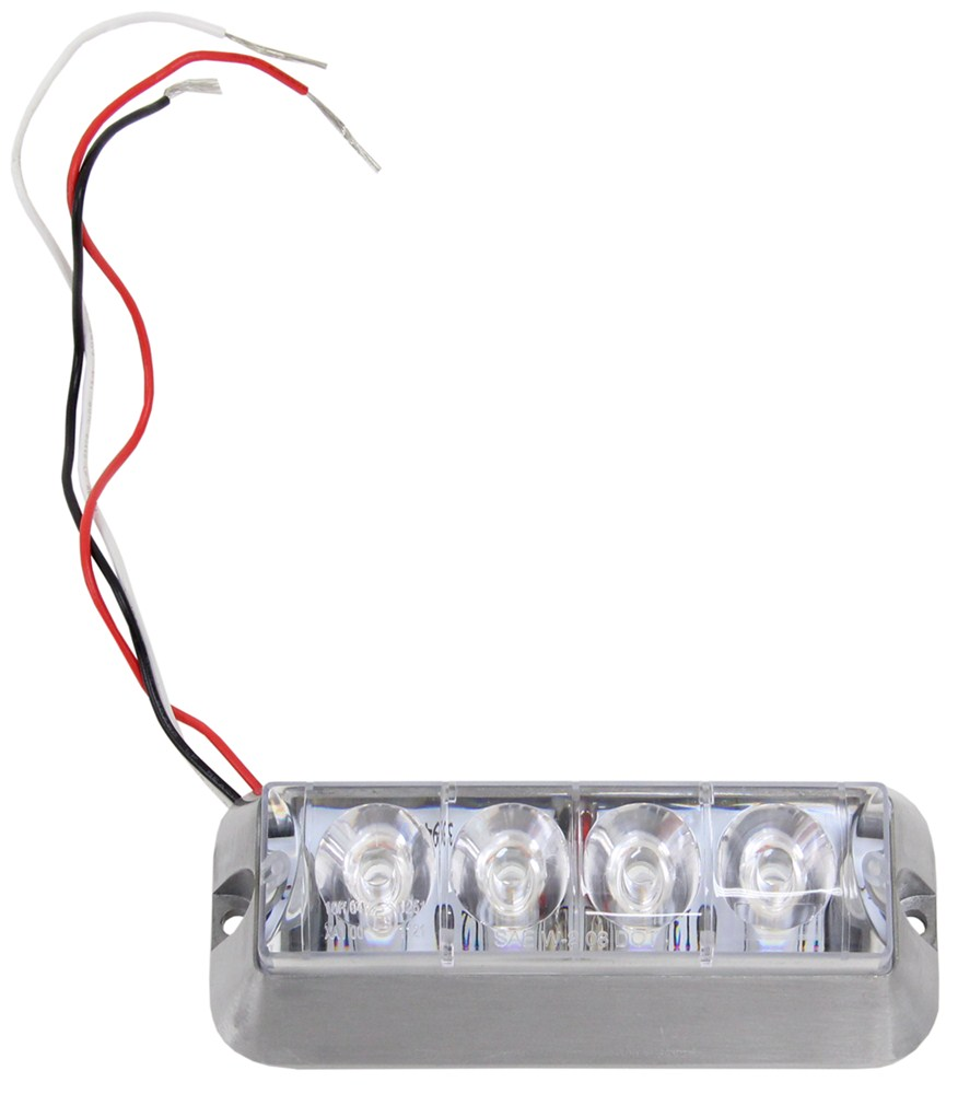custer 4 led strobe light or running light 3 wire pigtail product images