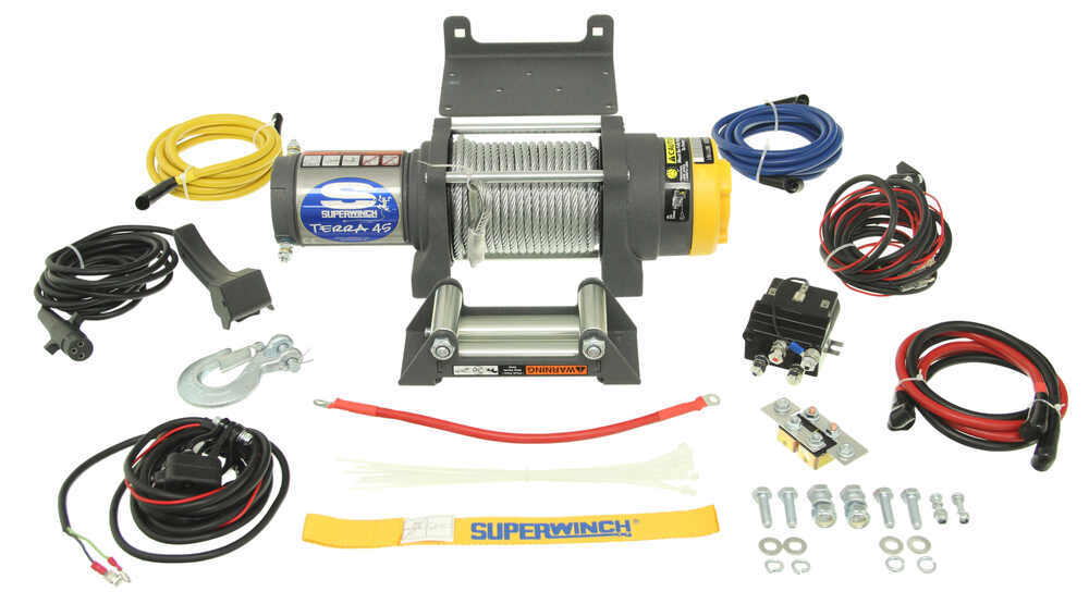 superwinch terra series atv winch - wire rope