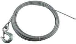 "Superwinch Replacement Wire Rope with Hook, 1/4"" x 50'"