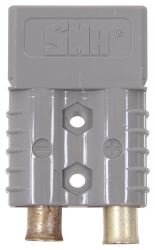 Spectro Stackable Electrical Quick-Connect - 2 Gauge - 120 Amps - Gray - Qty 1