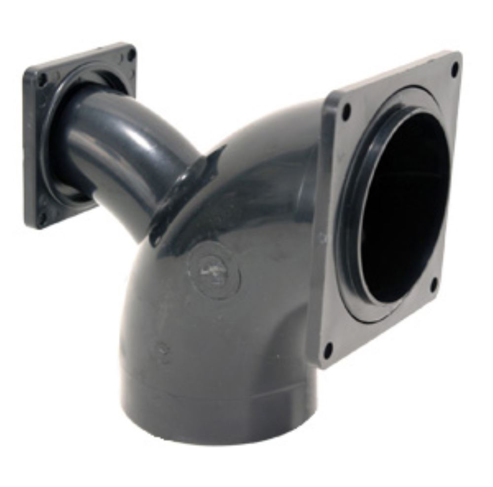Rv sewer elbow way quot spigot rotating flange