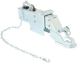 "Titan Zinc-Plated Brake Actuator w/ Drop - Drum - 2-5/16"" Ball - Bolt On - 12,500 lbs"