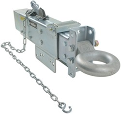 Titan Zinc-Plated, Adjustable-Channel Actuator w Electric Lockout - Disc - Lunette Ring - 12,500 lbs