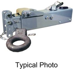 Titan Zinc-Plated, Adjustable-Channel Brake Actuator - Disc - Lunette Ring - Bolt On - 20,000 lbs