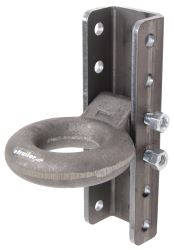 "Titan Lunette Ring w/ 5-Position Adjustable Channel - 3"" Diameter - Raw - 20,000 lbs"