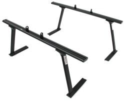 TracRac TracONE Truck Bed Ladder Rack for Toyota Tacoma - Fixed Mount - 800 lbs - Matte Black