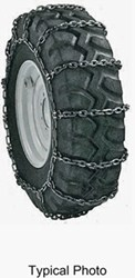 Titan Chain Alloy Snow Chains w/ Cams for Wide Base Tires - Ladder Pattern - Square Link - 1 Pair