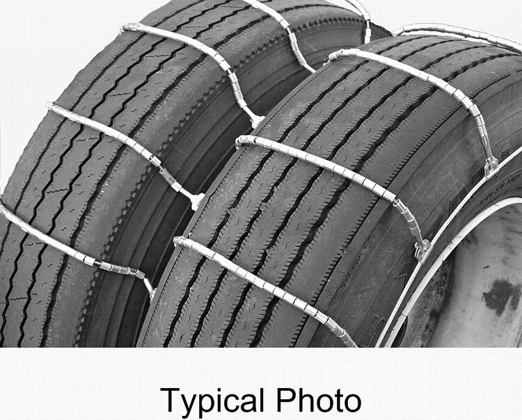titan chain cable snow tire chains for dual tires ladder pattern steel rollers 1 axle set. Black Bedroom Furniture Sets. Home Design Ideas