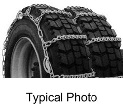 Titan Chain Snow Tire Chains for Dual Tires - Ladder Pattern - V-Bar Links - 1 Axle Set