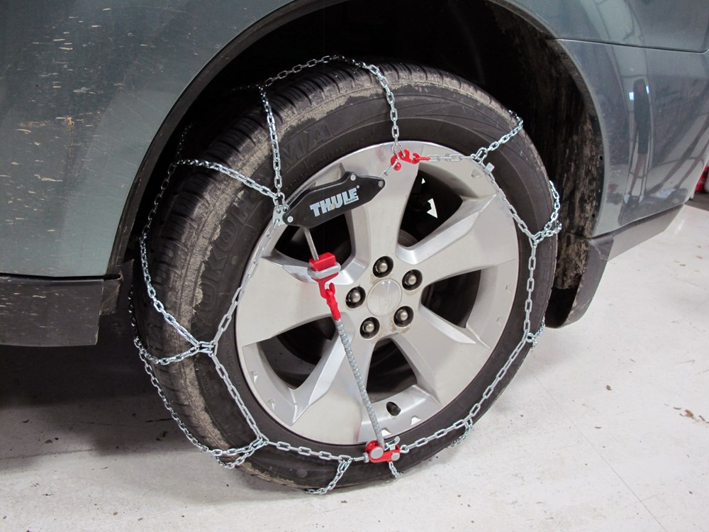2010 subaru forester tire chains thule. Black Bedroom Furniture Sets. Home Design Ideas