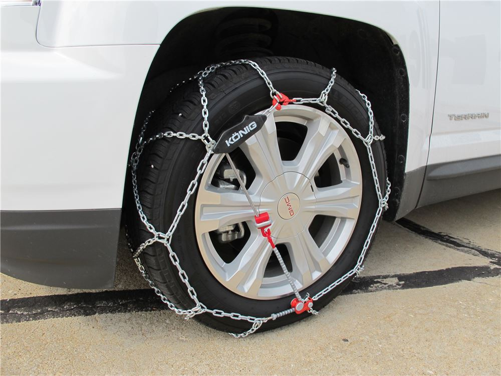 2013 gmc terrain konig self tensioning snow tire chains for Mercedes benz snow chains
