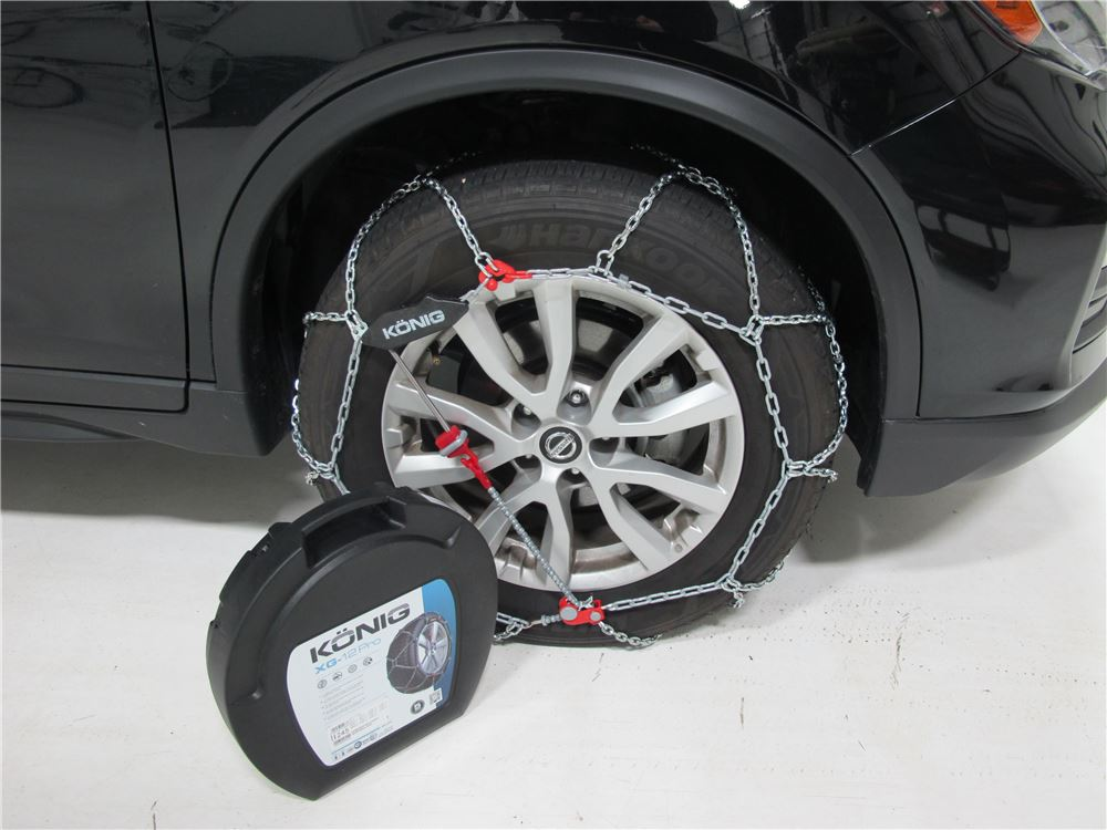 2015 Nissan Rogue Konig Self Tensioning Snow Tire Chains