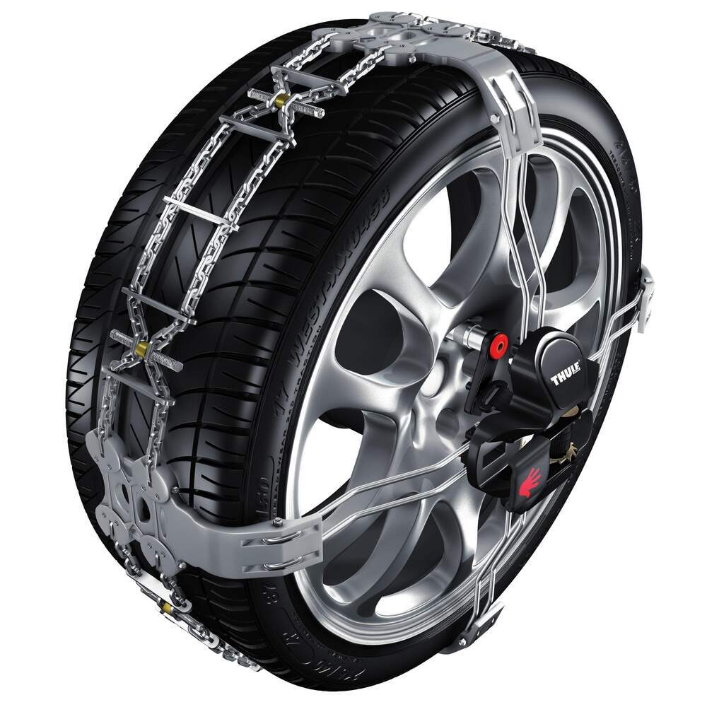 thule premium self tensioning snow tire chains diamond pattern d link k summit size k23. Black Bedroom Furniture Sets. Home Design Ideas