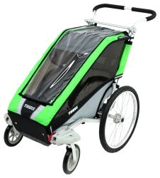 Thule Chariot Cheetah Stroller - 1 Child - Green