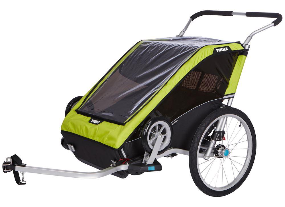 Thule Chariot Cheetah XT Bike Trailer and Stroller - 2 ...