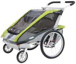 Thule Cougar Stroller - 2 Child - Green