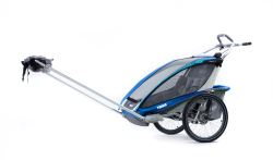 Thule CX Stroller and Hiking/Skiing Trailer - 2 Child - Blue