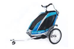 Thule Chinook Bike Trailer, Stroller, and Jogger with Accessories - 1 Child - Blue