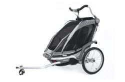 Thule Chinook Bike Trailer, Stroller, and Jogger with Accessories - 1 Child - Black