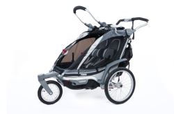 Thule Chinook Stroller and Jogger with Accessories - 2 Child - Black