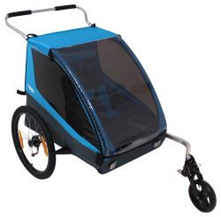 Thule Coaster XT Bike Trailer and Stroller - 2 Child - Blue