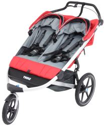 Thule Urban Glide Stroller and Jogger - 2 Child - Red