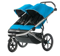 Thule Urban Glide Stroller and Jogger - 2 Child - Blue